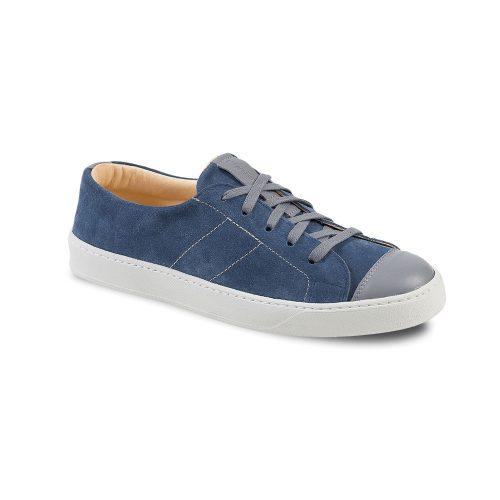 Chaussures en cuir basses fabrication française bleu gris Atelier PM