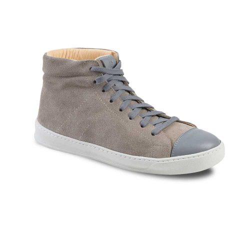 Chaussures en cuir haut de gamme montantes gris Atelier PM