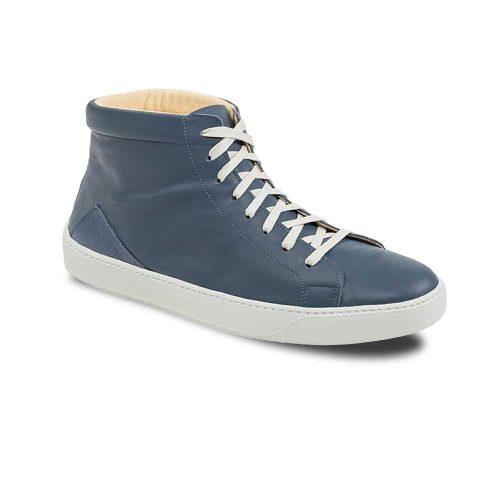 Chaussures en cuir haut de gamme montantes bleu Atelier PM