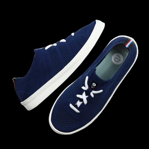 ector sneaker navy semelle blanche-0