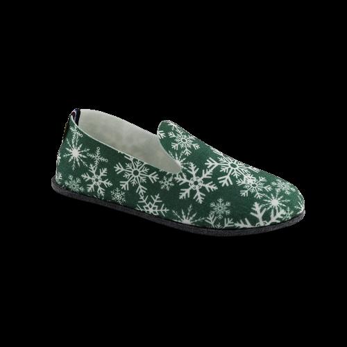 Chaussons écologiques flocons vert Soft'in