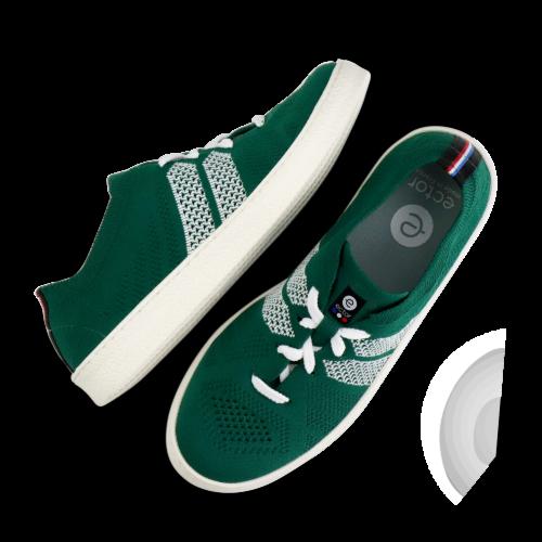 ector sneaker emeraude blanc semelle blanche-0