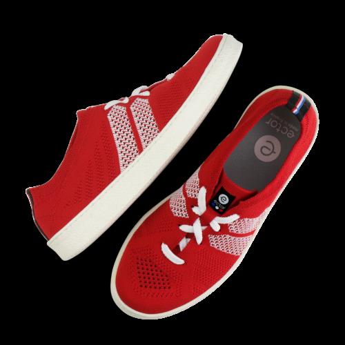 ector sneaker rouge blanc semelle blanche-0