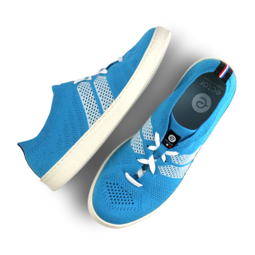 ector sneaker turquoise blanc semelle blanche-0