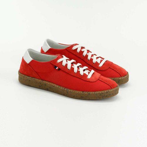 Chaussures en toile écoresponsables rouge Atelier PM
